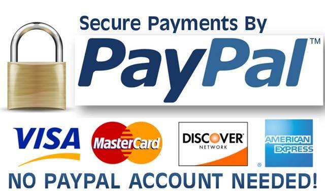 Safe & Secure Payment via PayPal