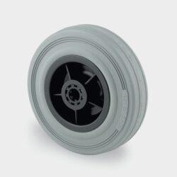 Grey Rubber Tyred Trolley Wheels