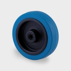blue elastic rubber trolley wheels