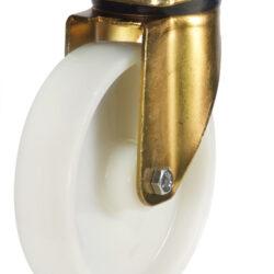 Medium duty top plate swivel castor nylon wheel