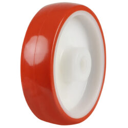 polyurethane trolley wheels nylon centre plain bore