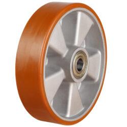 polyurethane tyrealuminium centre wheel ball bearing bore