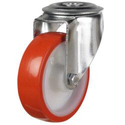 bolthole castor with polyurethane wheel