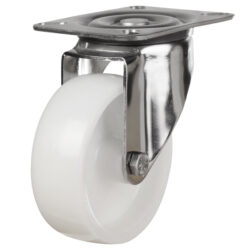 stainless steel top plate swivel castor nylon wheel