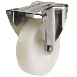 stainless steel top plate fixed castor nylon wheel