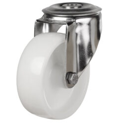 stainless steel bolt hole castor nylon wheel