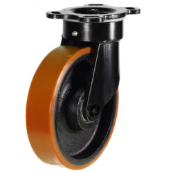 Heavy Duty Swivel Castor Polyurethane Tyre Cast Iron Centre Wheel