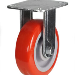 top plate fixed castor fabricated bracket polyurethane wheel
