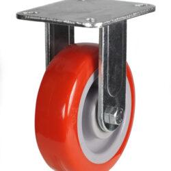 top plate fixed castor fabricated bracket polyurethane wheel