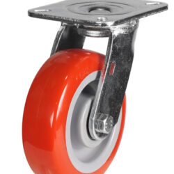 top plate swivel castor fabricated bracket polyurethane wheel