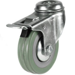 economy bolt hole swivel brake castor grey tyre wheel