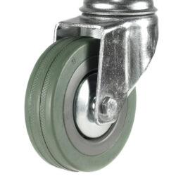 economy bolt hole swivel castor grey tyre wheel