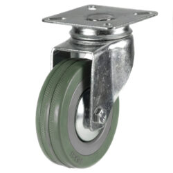 economy top plate swivel castor grey tyre wheel