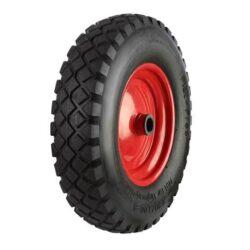 pneumatic wheel red steel centre