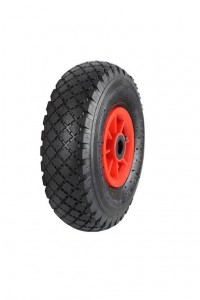 pneumatic wheel red plastic centre
