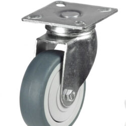 Light duty top plate swivel castor grey wheel