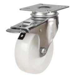 institutional top plate brake castor nylon wheel
