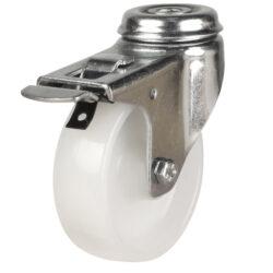institutional bolt hole brake castor nylon wheel