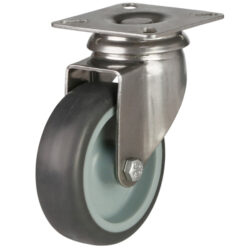 stainless steel top plate castor grey wheel