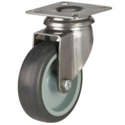 stainless steel top plate castor grey wheel
