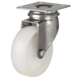 stainless steel top plate swivel castor nylon wheel