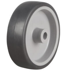 grey thermoplastic wheel with grey tyre