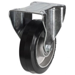top plate fixed castor with rubber tyre aluminium centre