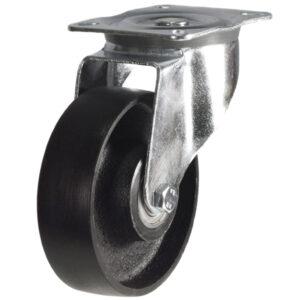 top plate swivel castor with cast iron wheel