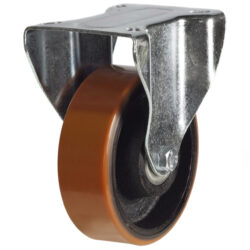 top plate fixed castor with polyurethane tyre cast iron centre