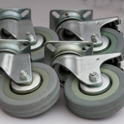 50mm top plate pack grey wheel 2 x swivel and 2 x swivel brake