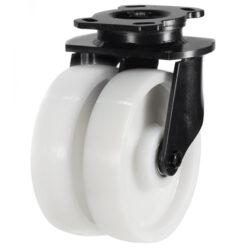 Heavy Duty Twin wheel Swivel Castor nylon wheel
