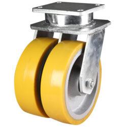 Extra Heavy Duty Twin Wheel Swivel Castor Polyurethane Wheel